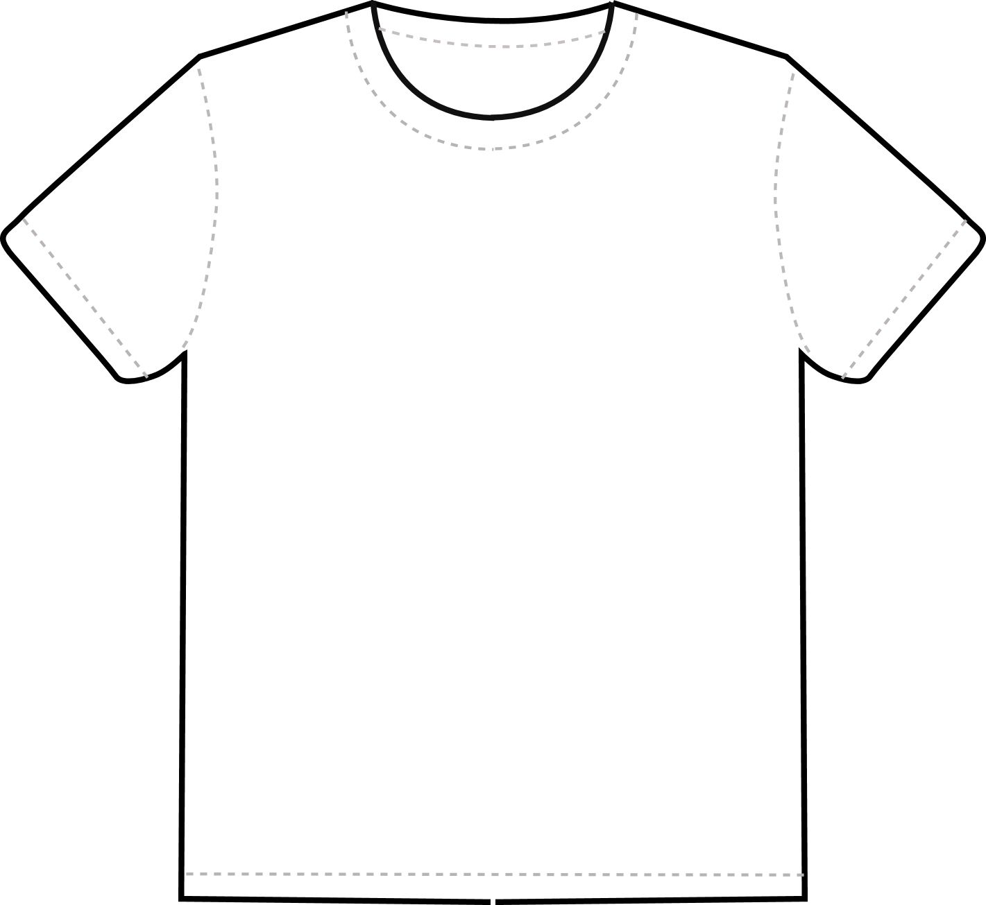 T Shirt Outline Clipart Clipart Best Clipart Best