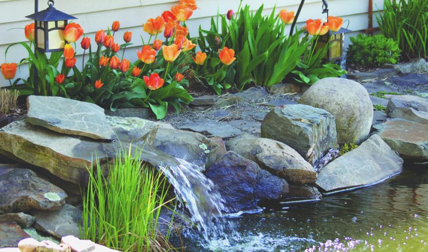 30 DIY Garden Pond Waterfall Ideas - Home Decors |Gentle Waterfall Pond