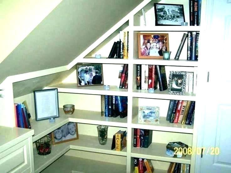 Floating Shelves For Slanted Walls Tilted Shelf Bookcase