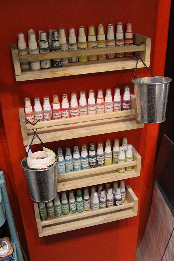 Crafty storage celine navarros atelier craft room for Ikea portaspezie