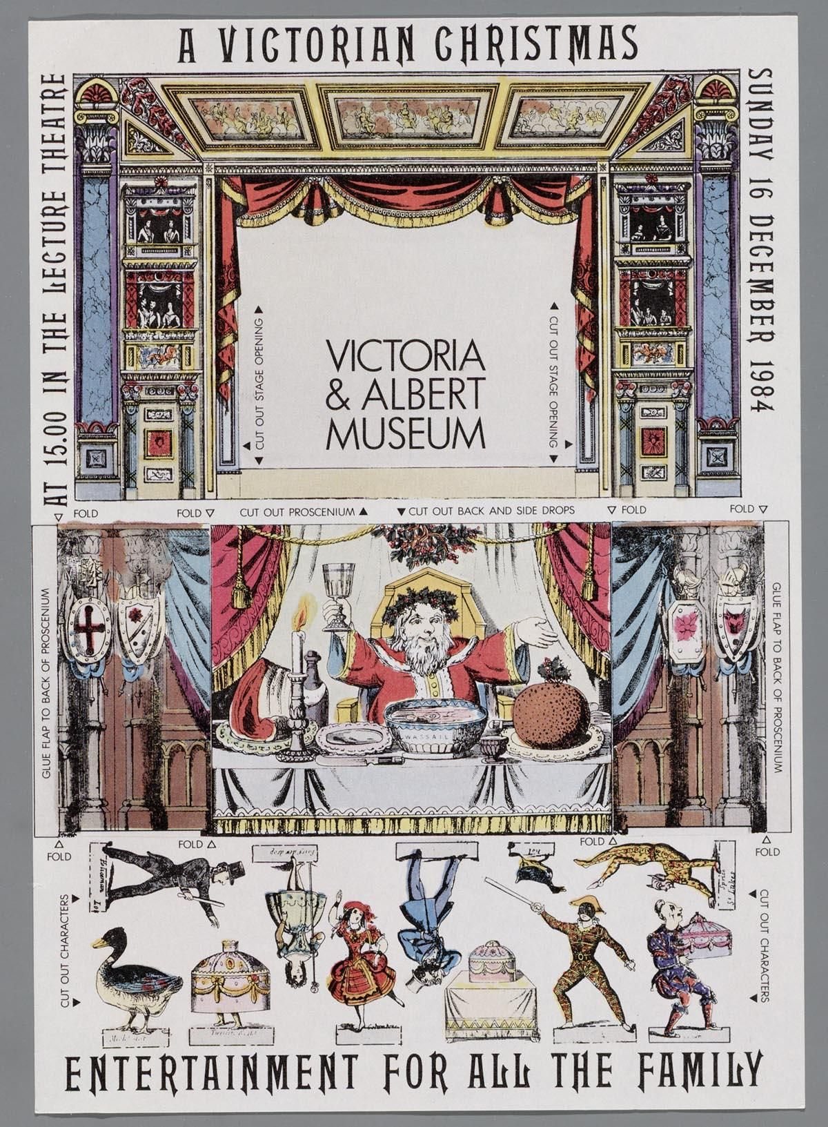 A Victorian Christmas Vintage Paper Doll Doll House