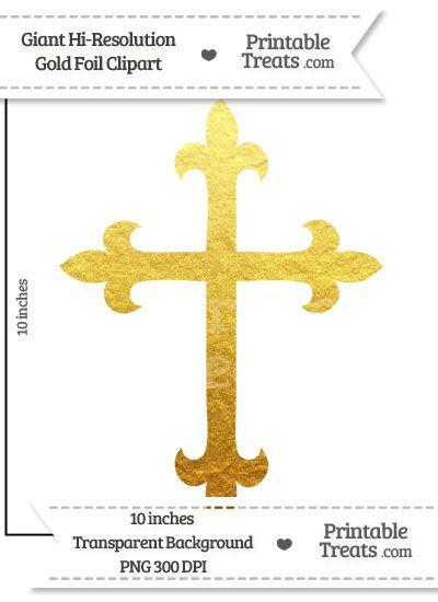 Gold Foil Giant Fancy Cross Clipart Clip Art Cross Clipart Fancy