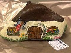 Fairy house I painted Lindy's Rox  :) (lindys rox) Tags: rockart rockpainting fairyhouse paintedrock