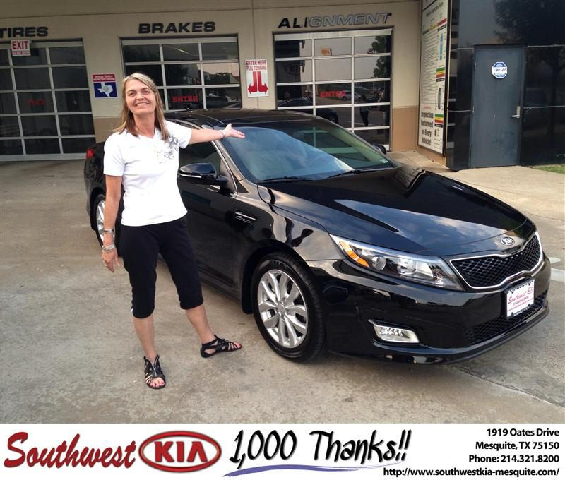 congratulations to beth hickey on your kia optima purchase from jerry tonubbee at southwest kia mesquite newcar kia new cars southwest pinterest