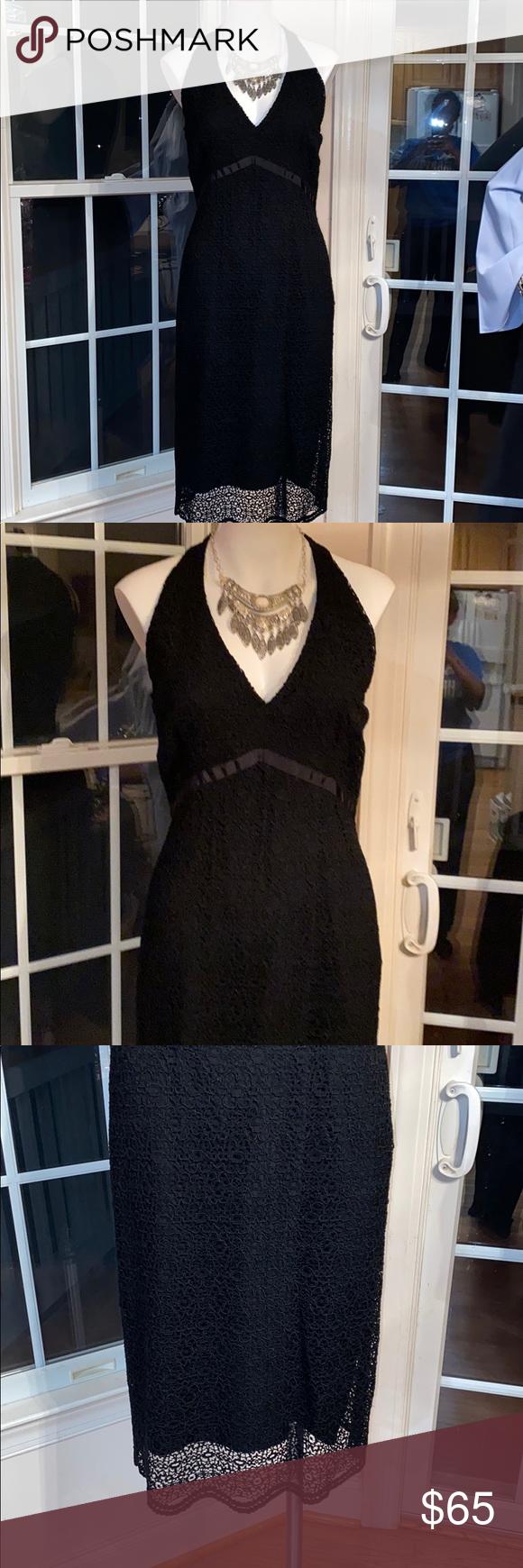 Elie Tahari Black Lace Dress Black Lace Dress Dresses Lace Dress [ 1740 x 580 Pixel ]