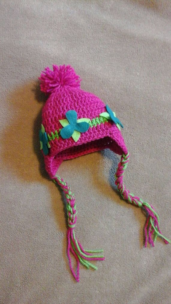 Princess Poppy Troll Inspired BeanieWinter by SewingBySusieQ ... aad64955d39