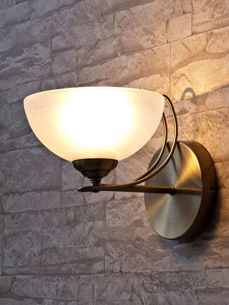 Nice Edle Wandleuchte Wandlampe im Jugendstil Echtglas Lampe Leuchte Wandlicht