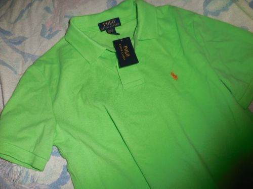 nwt Polo Ralph Lauren lime green short sleeve polo shirt boy's 14 16 $39