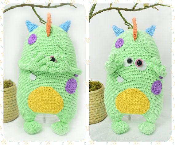 Crochet Pattern Cute Monster Kuboo Amigurumi Doll Pattern