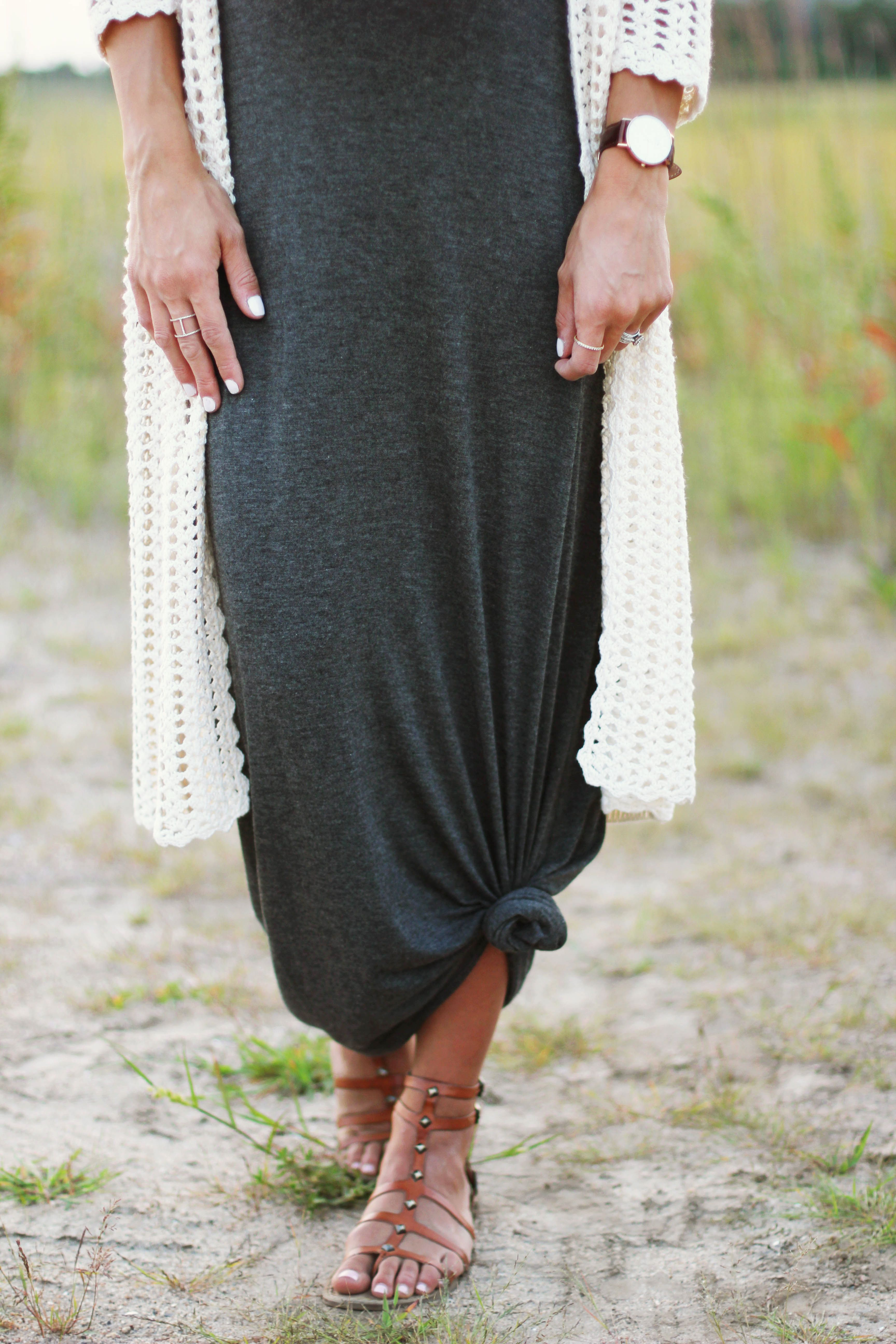Maternity Style // Open Knit Cardigan