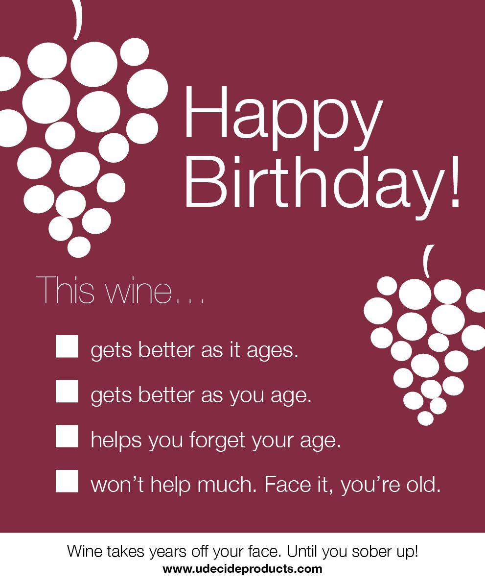 Funny Birthday Meme Wine : Happy birthday wine bottle label pinterest
