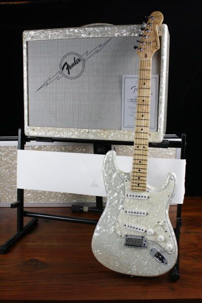Fender Custom Shop White Moto Stratocaster and Amp Set #47 of 250