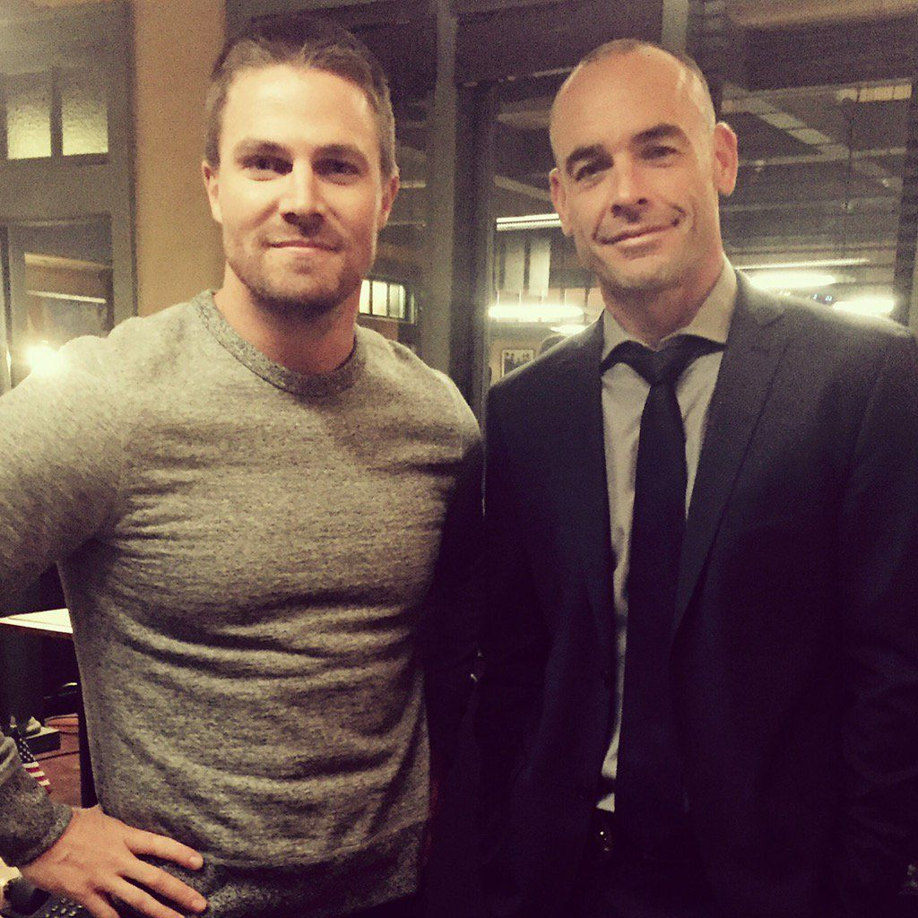 Paul Blackthorne on Twitter: First day of shooting #Arrow100 Time flies when you're having fun and working with this fine gent! #StephenAmell