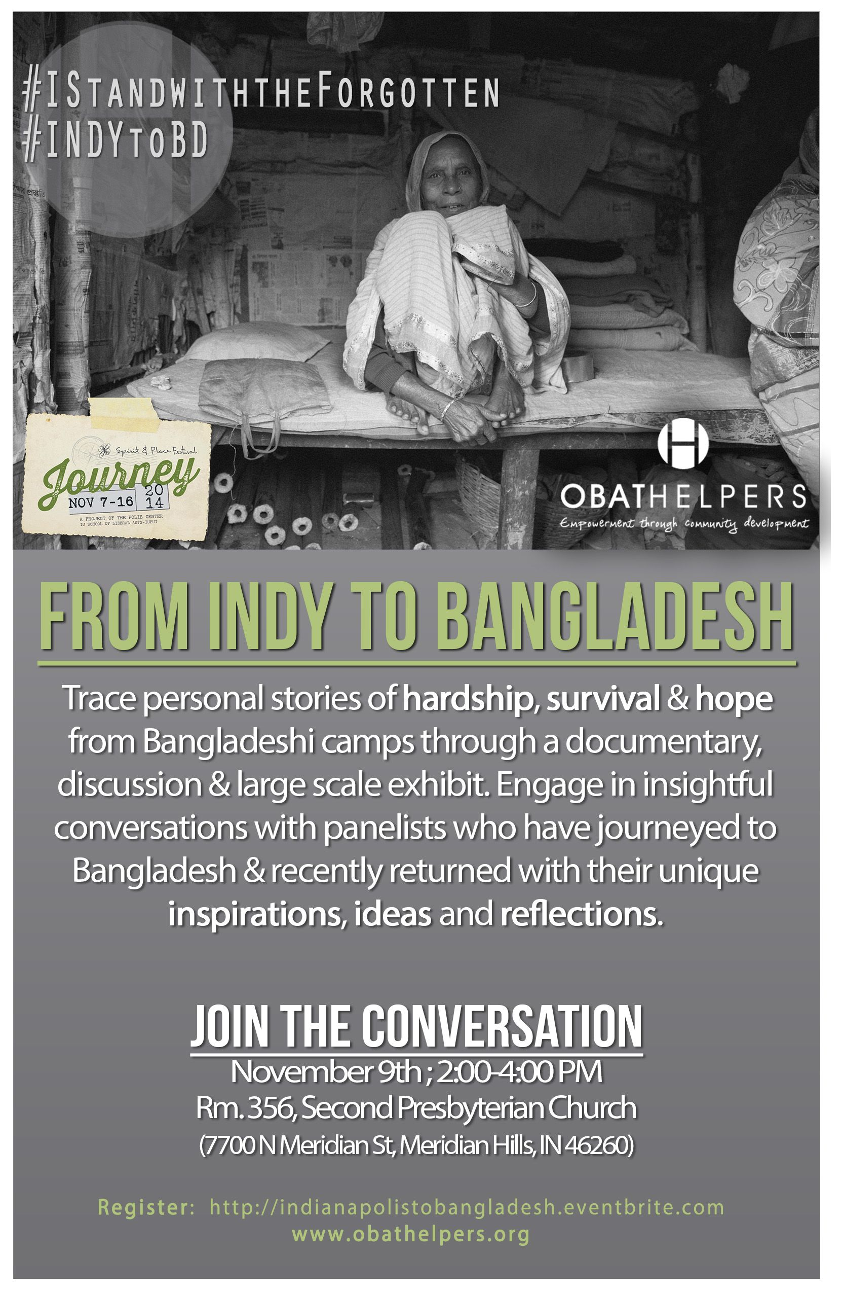 "Take a journey us at, ""From Indianapolis to Bangladesh."" #SPIndy #INDYtoBD"