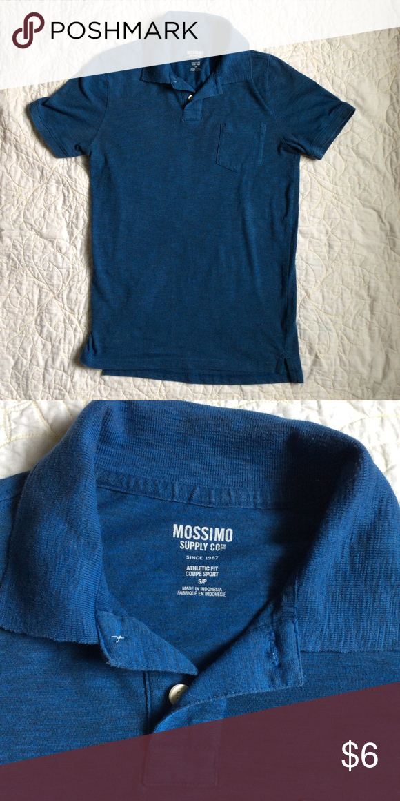 ee834449928 Mossimo Athletic Fit Polo Shirt Excellent condition Size Small Heathered  blue Athletic Fit Mossimo Supply Co. Shirts Polos