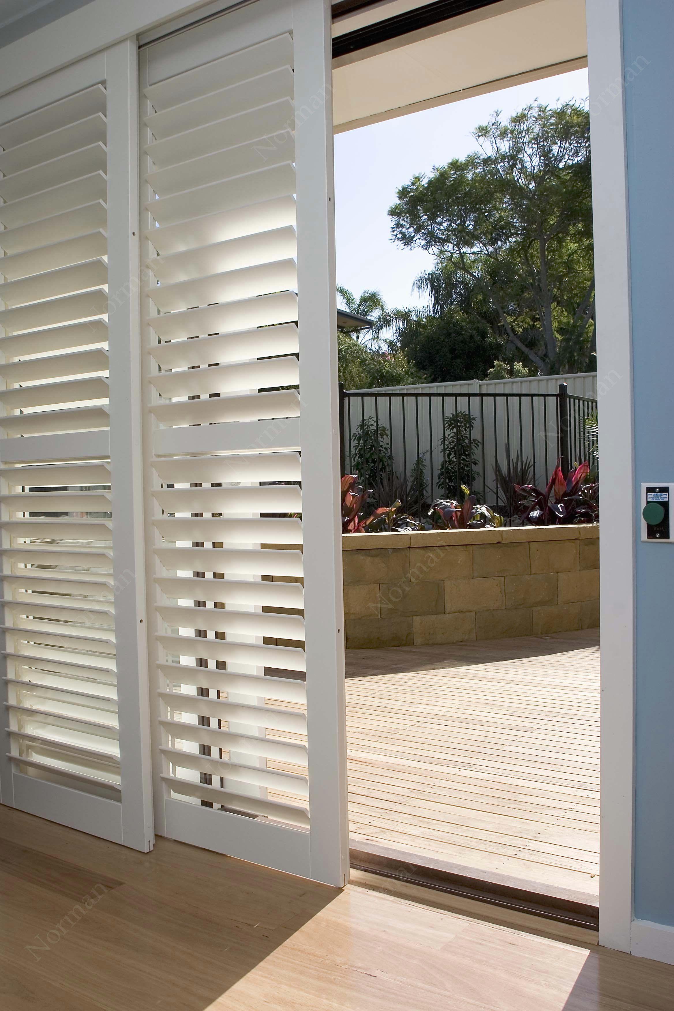 Nice Example Of Sliding Glass Door Shutters Or Also Referred To As