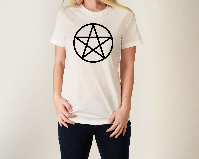 Pagan Pentacle T Shirt Wicca Wiccan Witch Shirt T Shirts