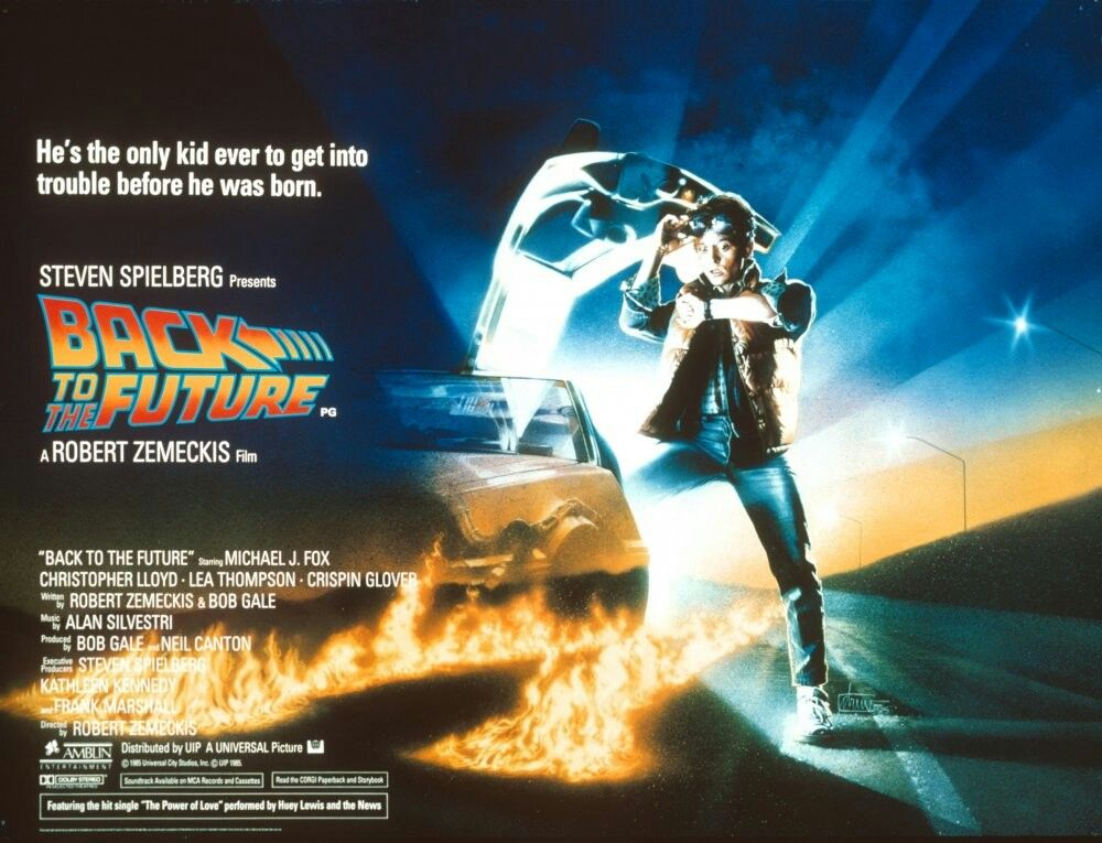 back to the future movie poster framed