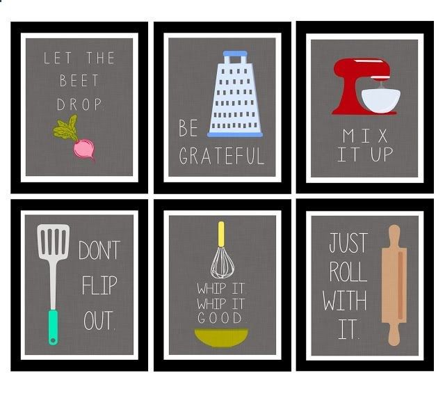 Cute Wall Decor For Kitchen : Cute kitchen printables