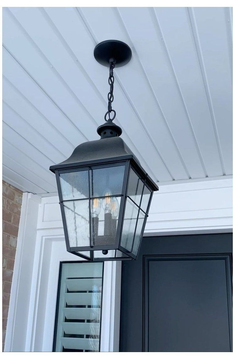 Love Our New Traditional Farmhouse Hanging Pendant Farmhouse Light Fixture Out Exterior Hanging Light Fixtures Porch Light Fixtures Outdoor Hanging Lights