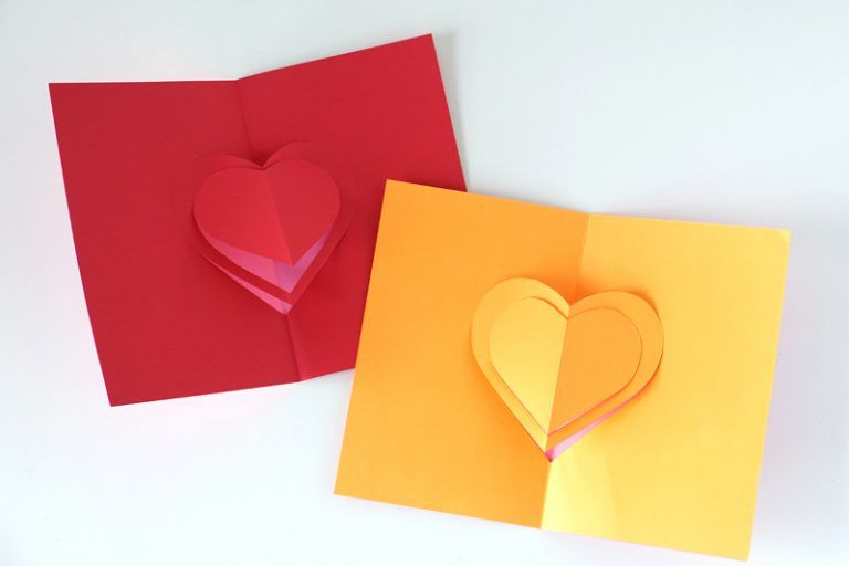 Super Simple Heart Pop Up Card Tutorial For Valentine S Day Charmpop Diy Valentines Cards Pop Up Valentine Cards Valentines Card Design