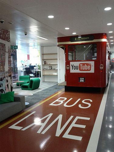 Youtube Offices youtube bus @ google london office. | techno-log | pinterest