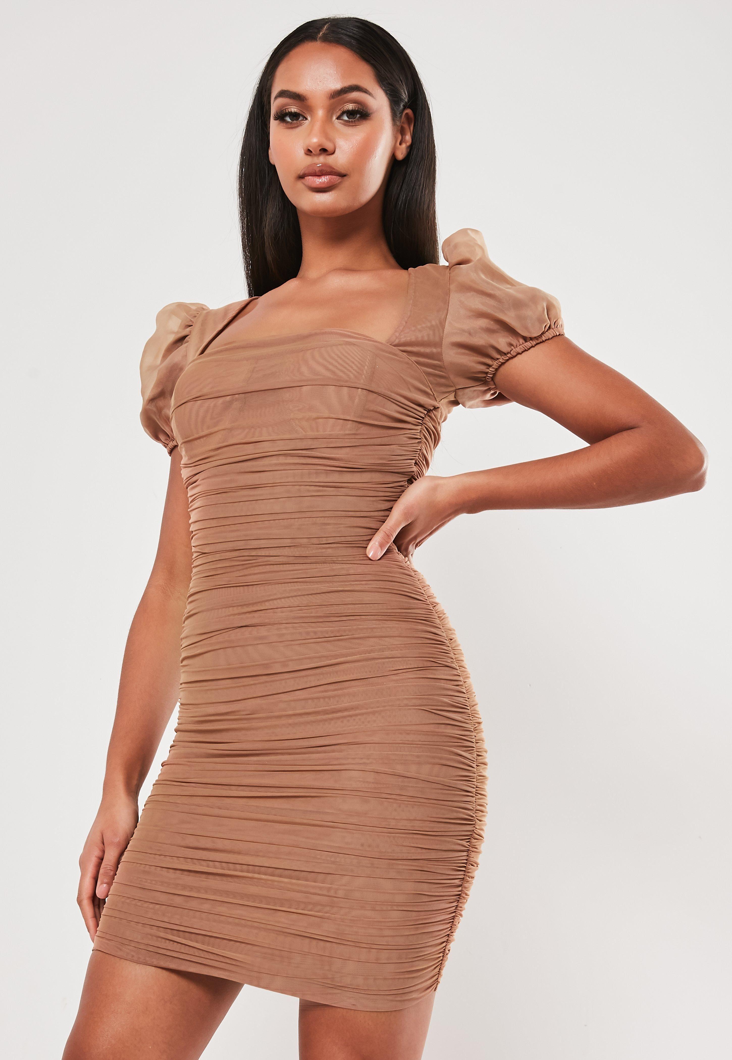 33++ Mesh ruched dress info