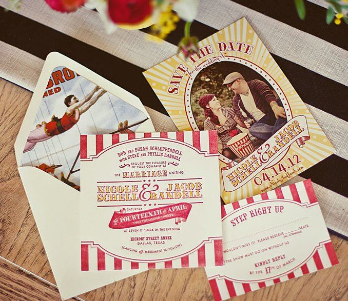 Vintage Circus Wedding Step Right Up! oh goodie designs