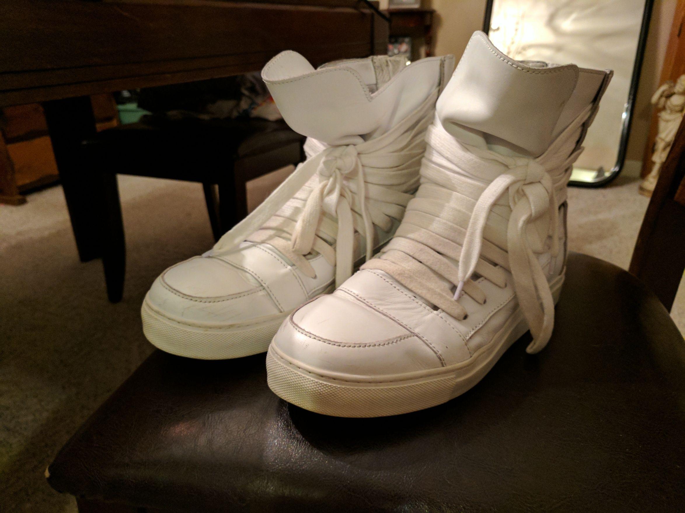 732ebab53a9a55 Kris Van Assche KVA Icarus Multi lace Sneakers White Size US 9.5   EU 42-43