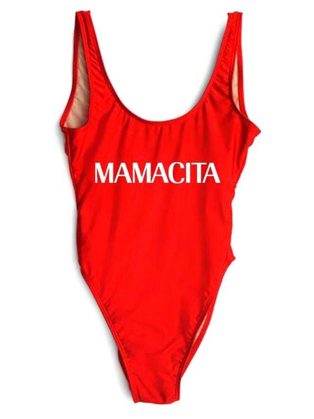 27c879b893e MAMACITA One-Piece Slogan Swimsuit | swimsuits | Swimsuits, Swimwear ...
