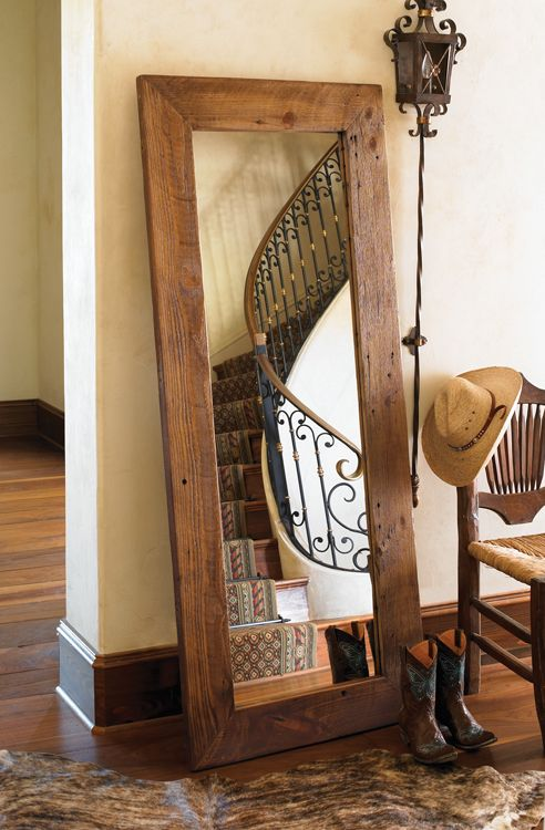 Barn Wood Mirror Rustic Home Decor: Mirror Made From Old Barn Wood. Hmmm It Would Match My