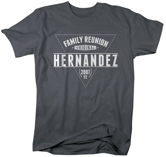Unisex Family Reunion Shirts Modern Hipster Personalized