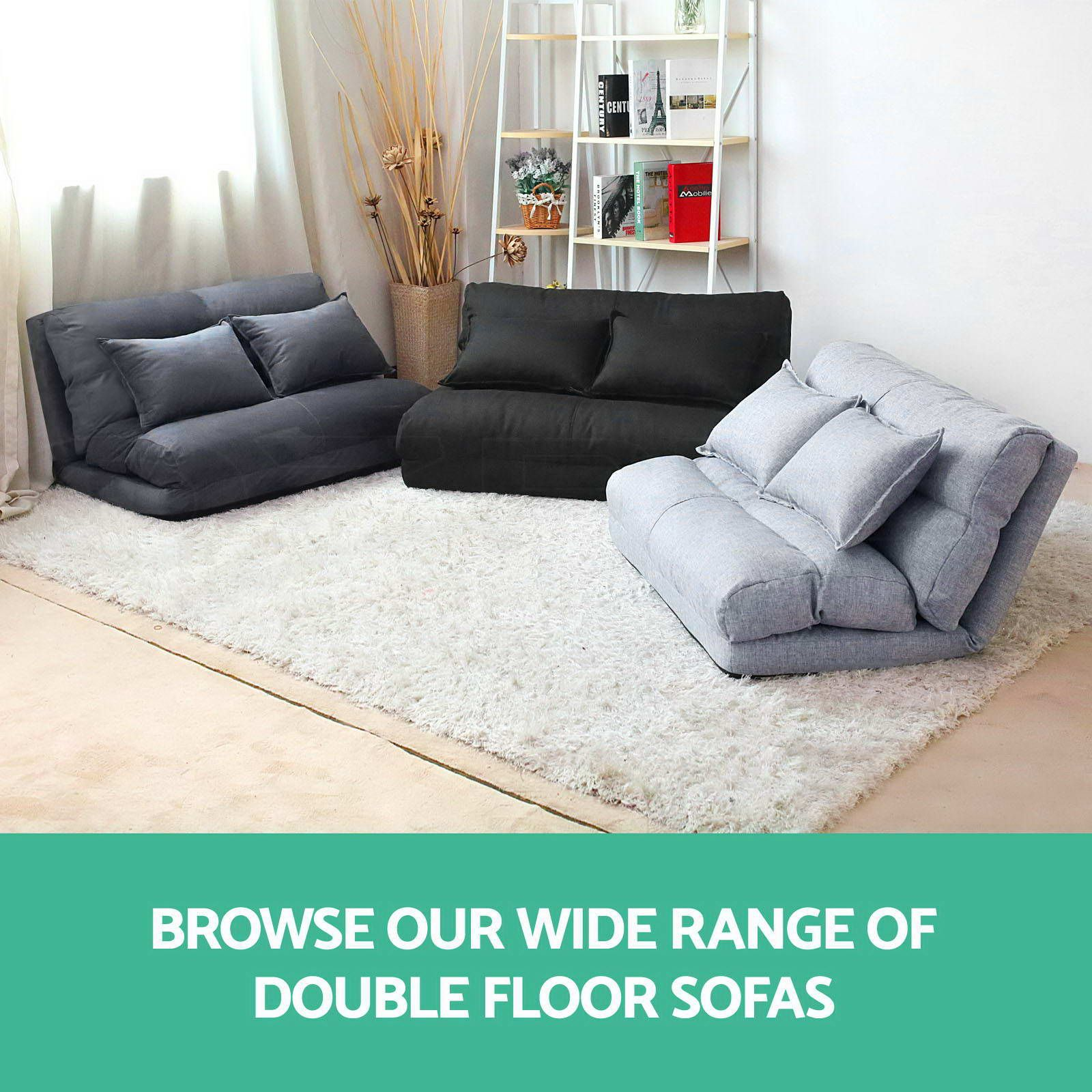 Artiss floor sofa lounge 2 seater futon chair couch