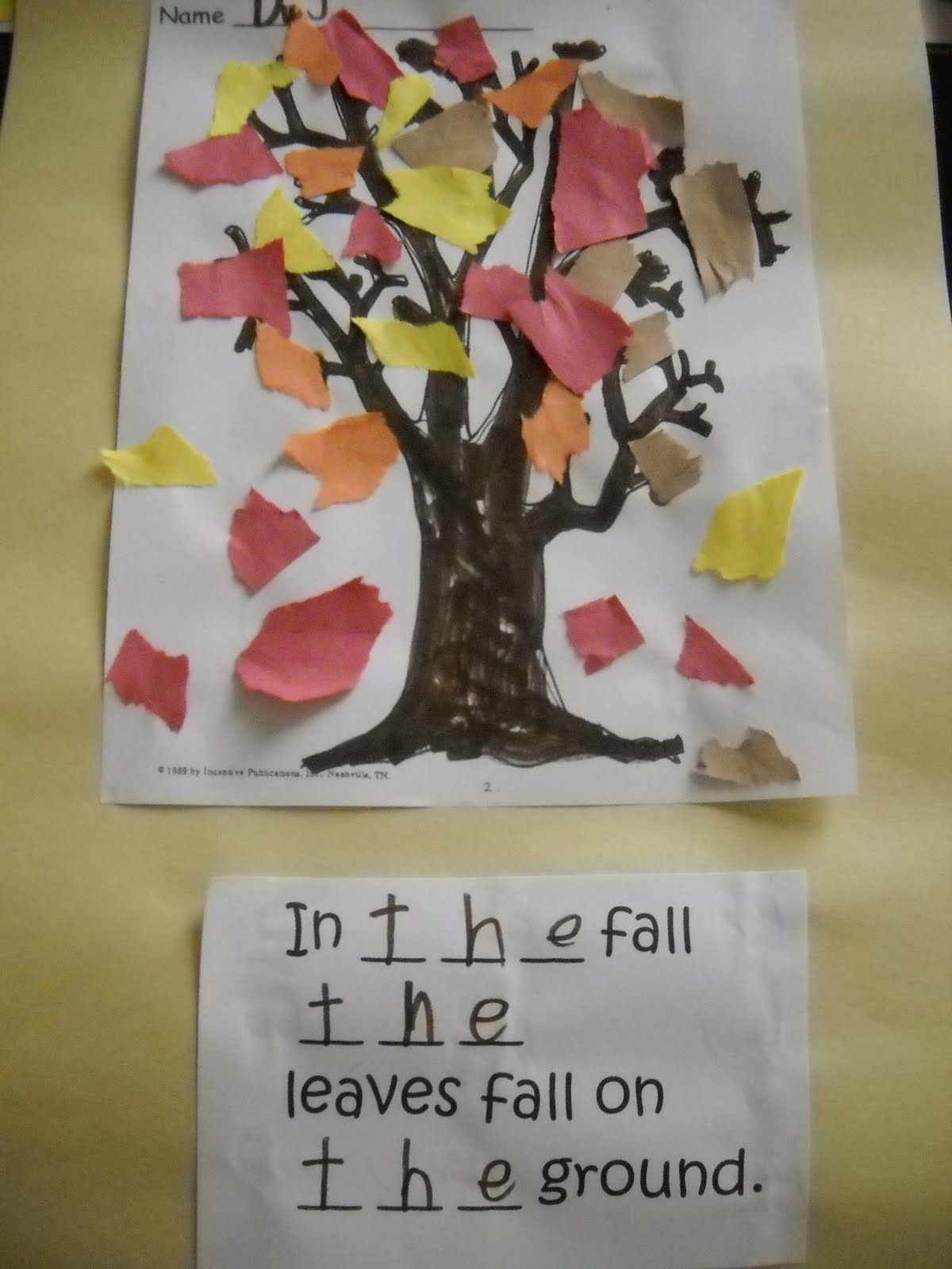 Kindergarten Fall Poems