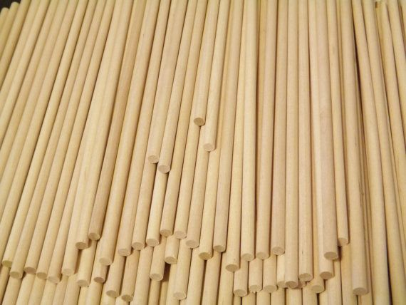 100 Pieces Birch Wooden Dowels 1 4 X 12 For By Unclejoeseclectic Wood Barn Wood Crafts Wood Craft Projects