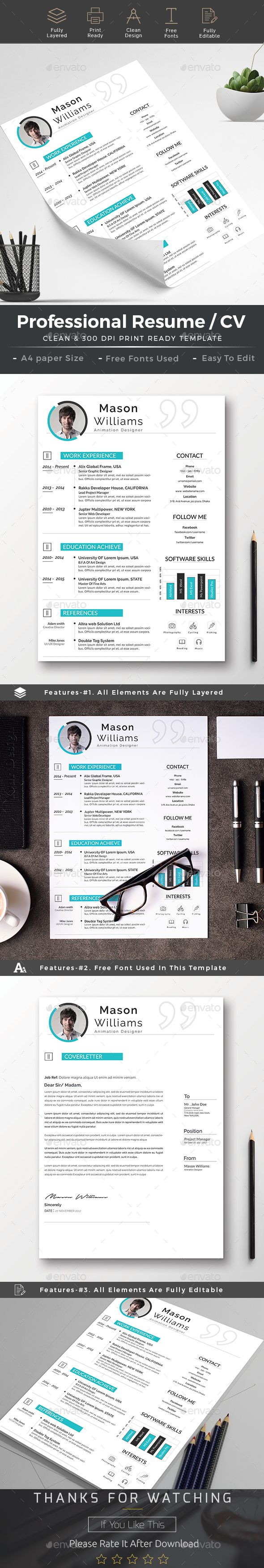 Buy Resume cv word by AncientEgo on