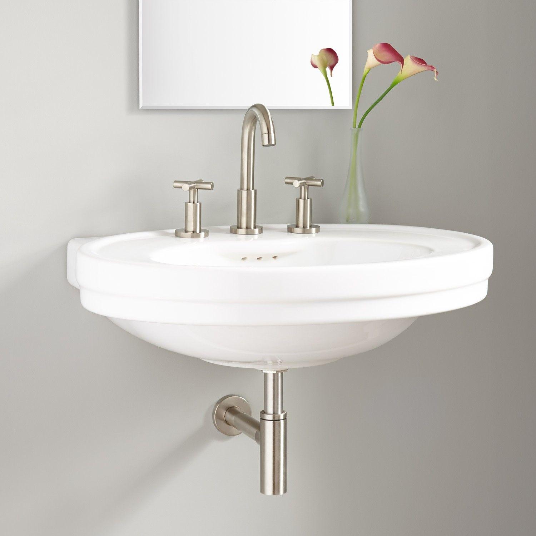 Cruzatte Porcelain Wall Mount Sink Wall Mount Sinks Bathroom