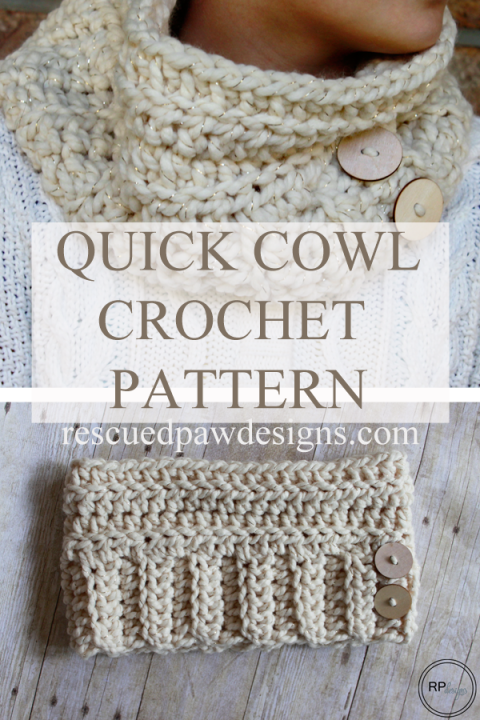 Andy Button Chunky Cowl Pattern | Crochet Scarves / Ponchos / Shawls ...