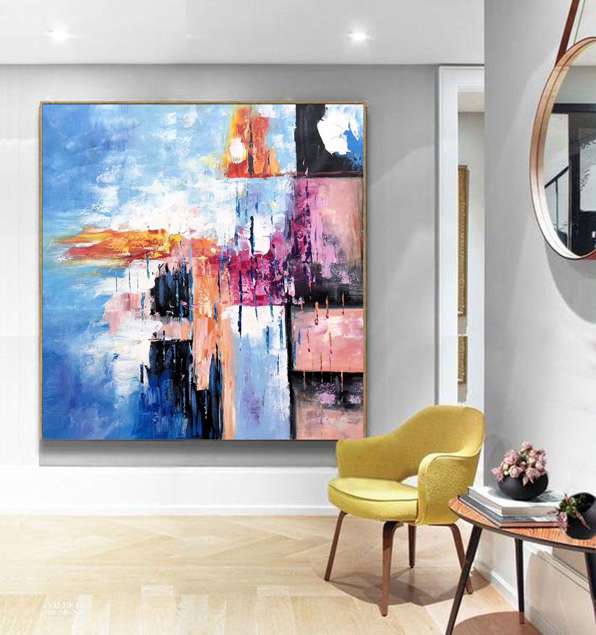 2020 的 Original Abstract Painting On Canvas Large Canvas Wall Art