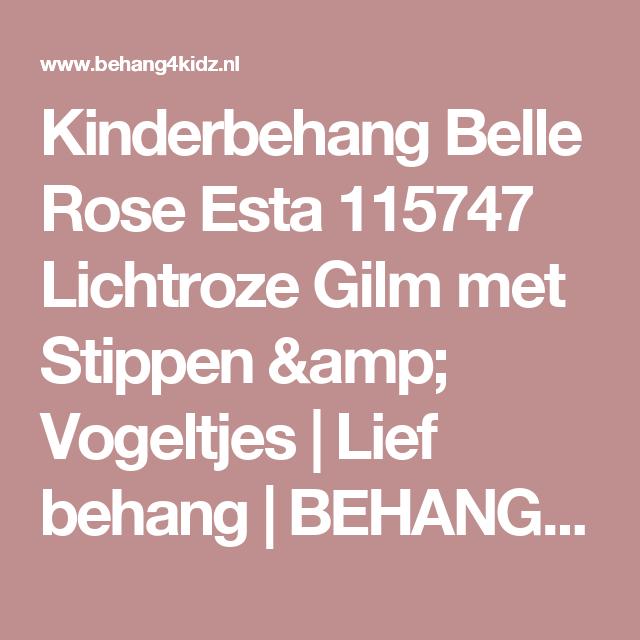 Vogeltjes Behang Lief.Kinderbehang Belle Rose Esta 115747 Lichtroze Gilm Met