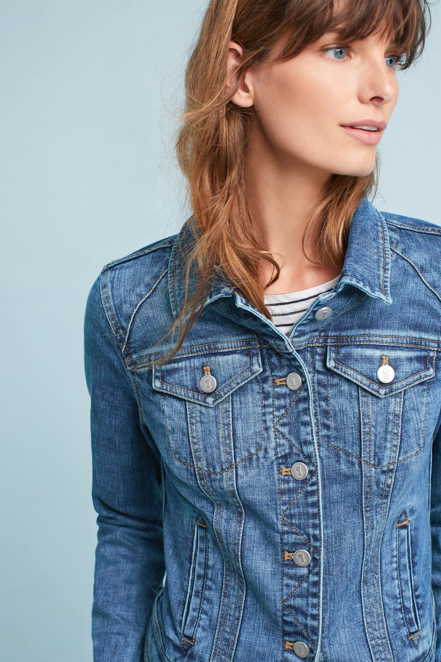 49de36bc2262 Shop the Pilcro Farrah Denim Jacket and more Anthropologie at Anthropologie  today. Read customer reviews
