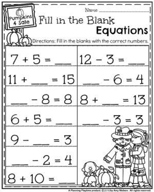 October First Grade Worksheets Planning Playtime First Grade Math Worksheets First Grade Worksheets Addition Worksheets First Grade