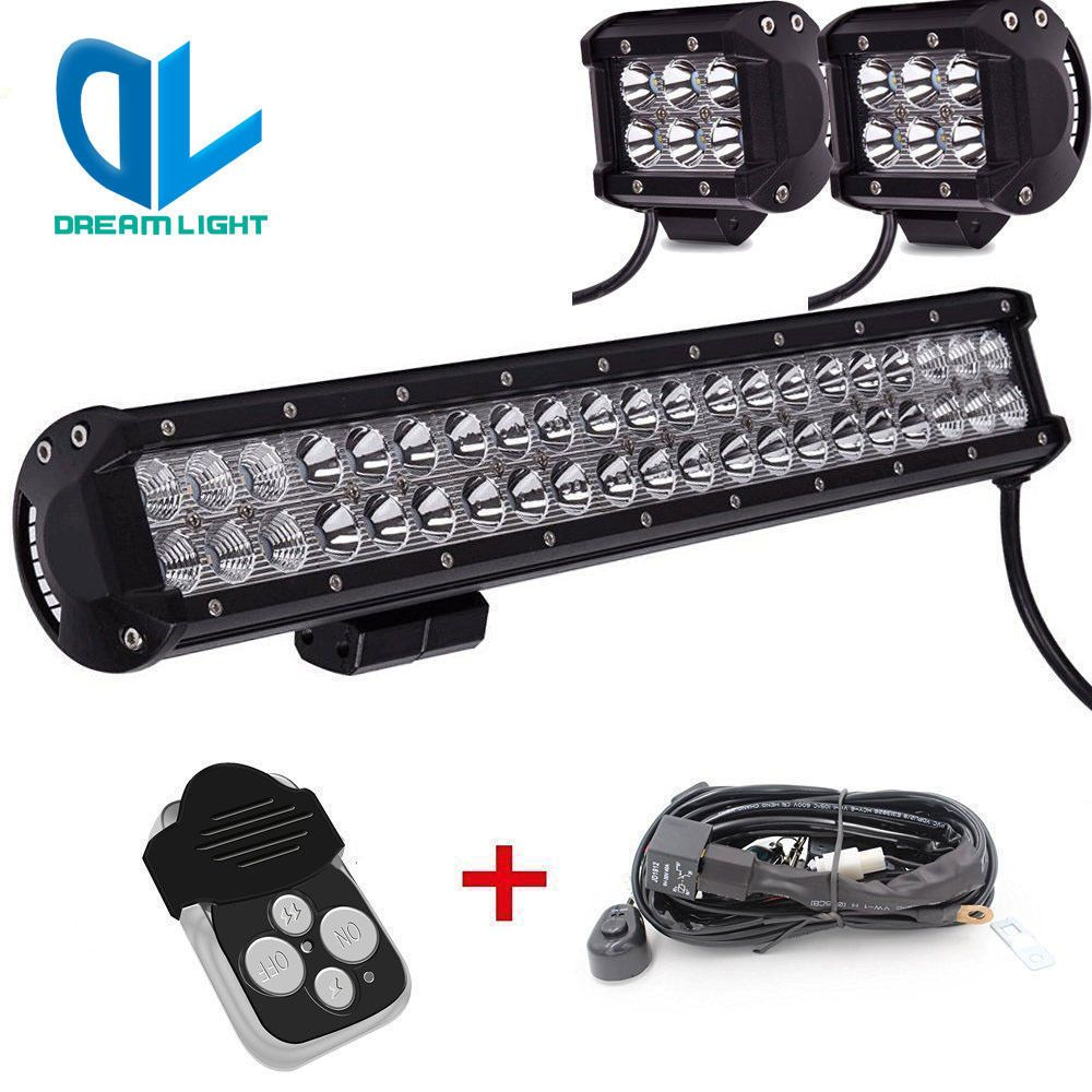 20 Inch LED Light Bar Combo 4inch Cree Work 4X4 Off road Truck ...