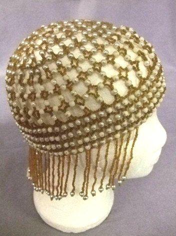 1920s Genuine VINTAGE Beaded Skull Cap Flapper by LOVELYSVINTAGE ... e92388b43994