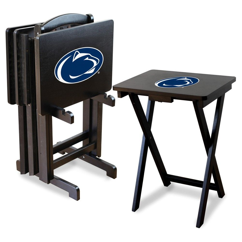 NCAA Imperial TV Trays with Stand 4pk Penn State Nittany