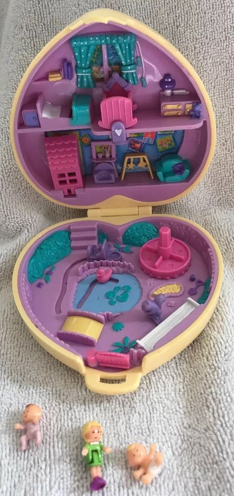 Polly Pockets For Sale: Vintage Polly Pocket 1994 Nursery Playground Yellow Heart