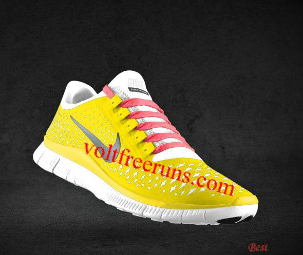 free shipping ea431 95e1b ... purchase cheapest mens nike free 3.0 v4 chrome yellow reflect silver  platinum hot punch lace shoes ...