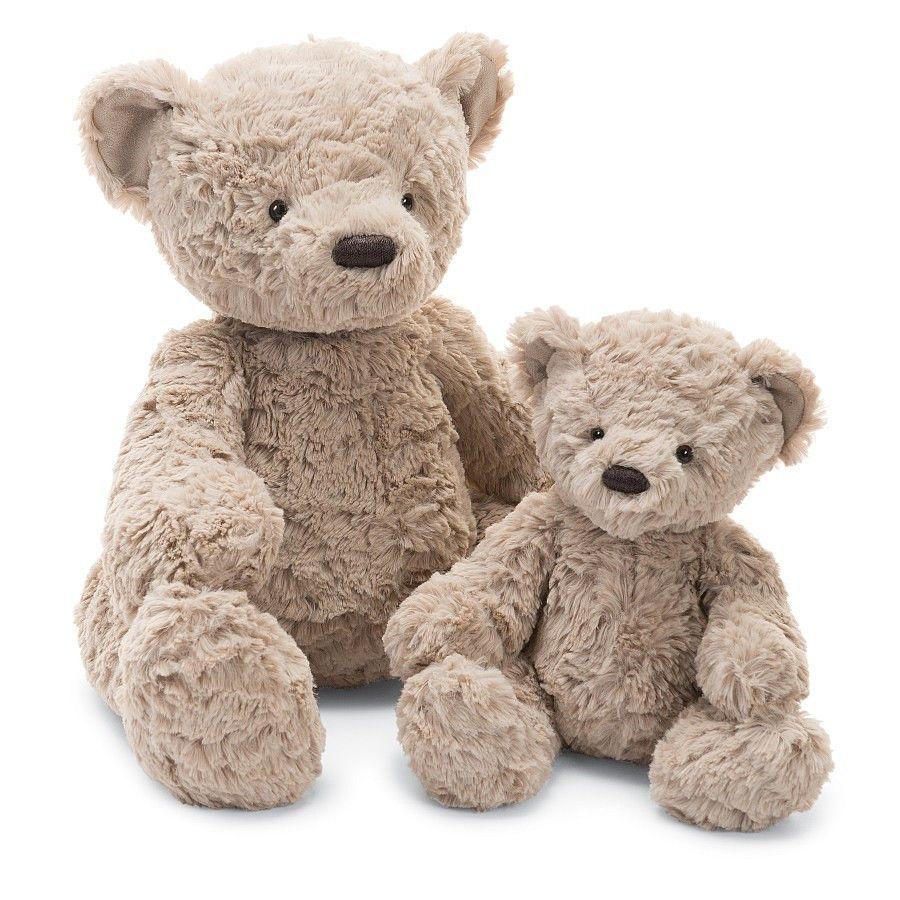 "Jellycat Bertie Bear Medium 11"" Teddy bear stuffed"