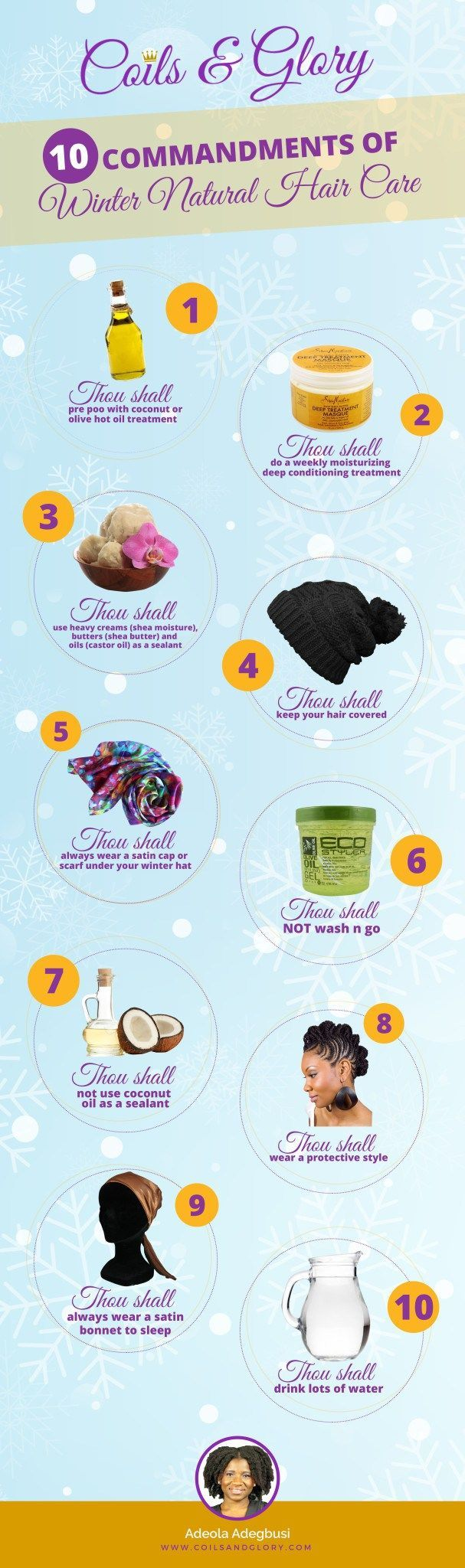 commandments of winter natural hair care natural winter and