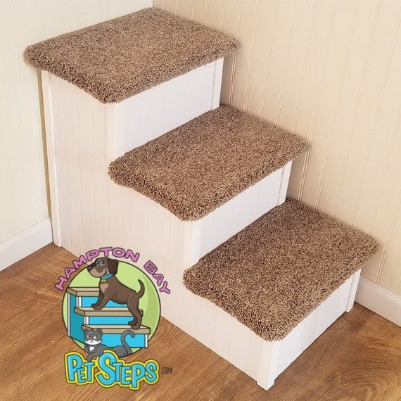 Extra Wide Dog Stair for Big Dogs Wood Pet Stair For